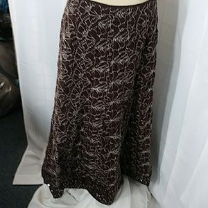 Made un INDIA Brown flared skirt